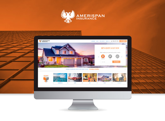 Website layout and design Amerispan Insurance