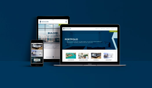 Website layout and desing Navicon Construction